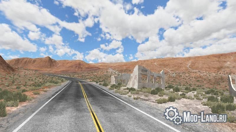 скачать карту для Beamng Drive пустыня - фото 3