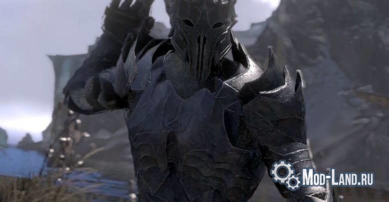 Skyrim: sauron armor mod.